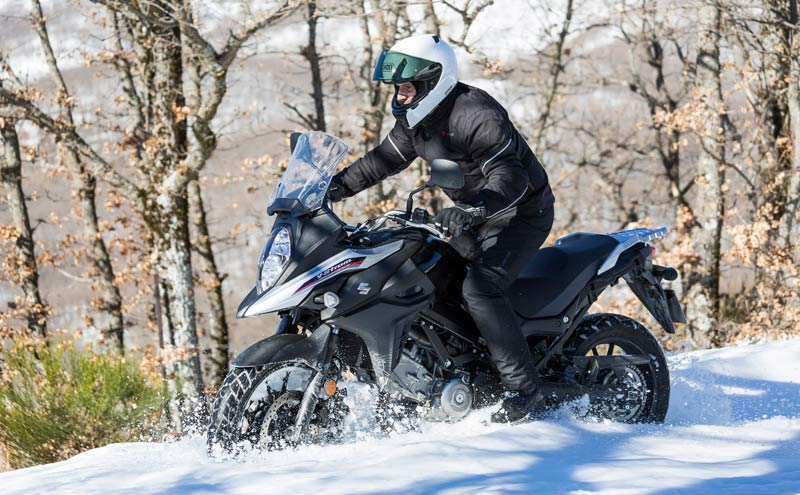 suzuki v strom 650 2017 prueba accion nieve 5