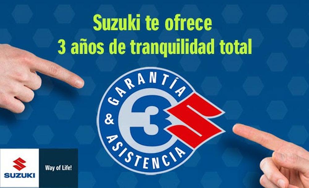Suzuki: tres años de garantía y asistencia gratis (image)