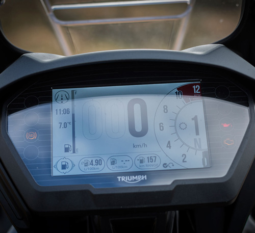 triumph tiger 800 xrt 2018 instrumentacion