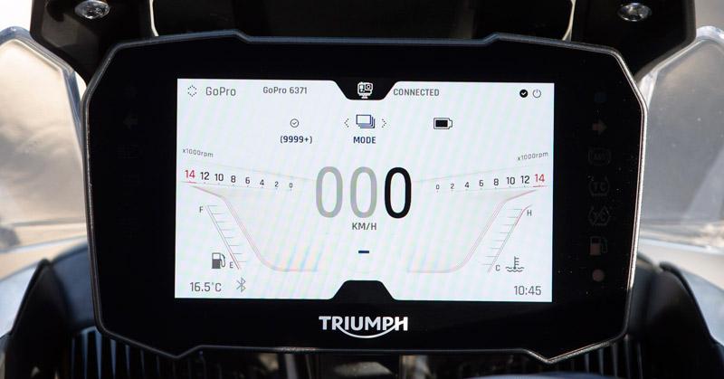 triumph tiger 900 gt rally prueba instrumentacion