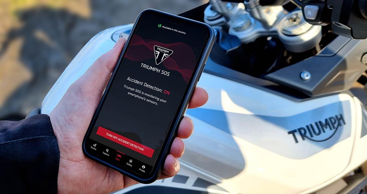 Triumph SOS: los de Hinckley estrenan app de detección de accidentes y llamada de emergencia (image)