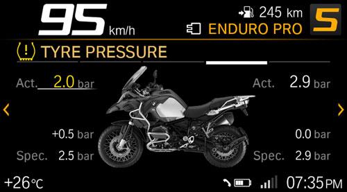 bmw motorrad connect presion neumaticos