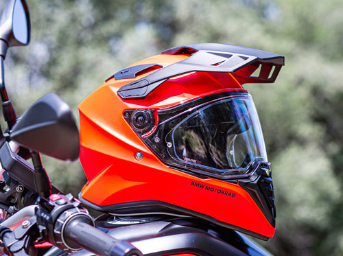 casco bmw adventure naranja 2021