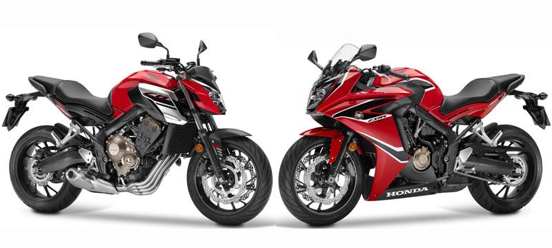 Comparativa Honda CB650F y CBR650F 2017