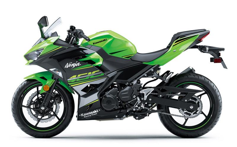 kawasaki ninja 400 2018 perfil verde izquierda