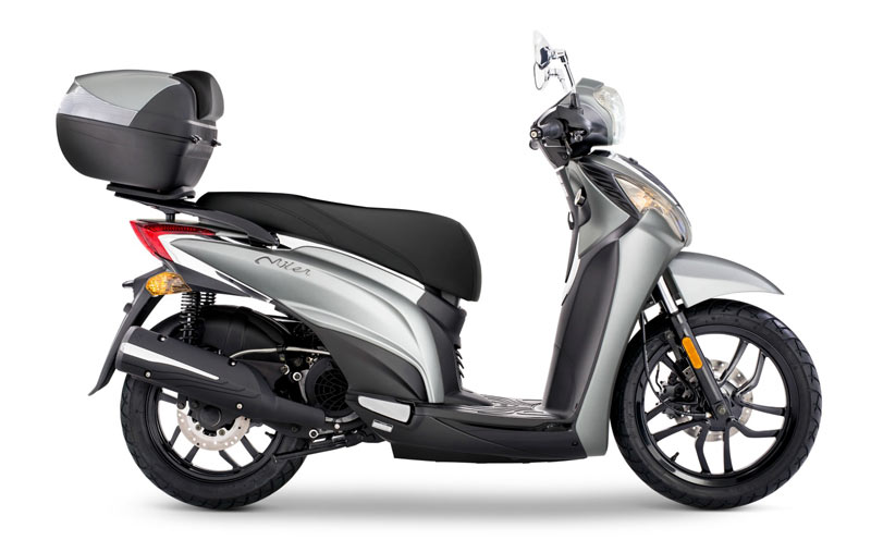 kymco miler 215 2017 gris lateral
