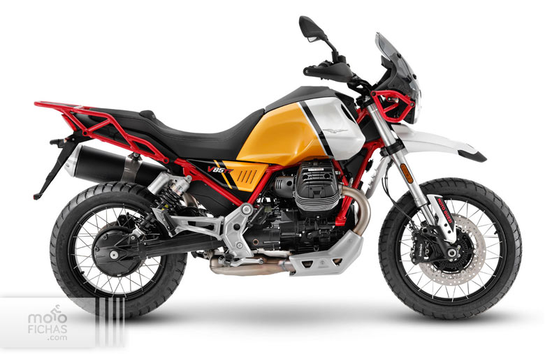 moto guzzi v85 tt 2021 estudio amarillo blanco