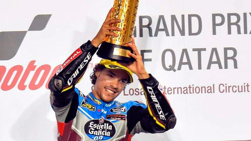 franco morbidelli podium qatar 2017