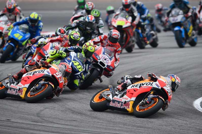 Lucha por la victoria en MotoGP