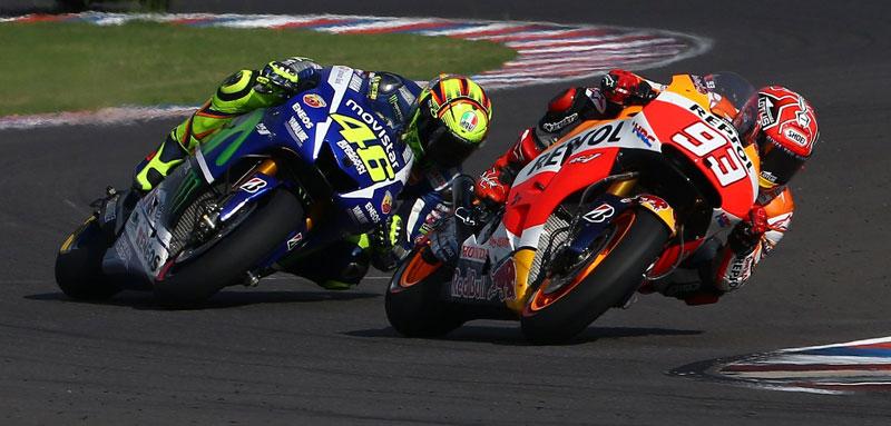 Márquez y Rossi, Argentina MotoGP 2016