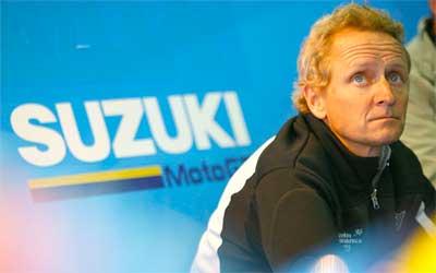 Kevin Schwantz prueba hoy la Suzuki MotoGP 2015 (image)