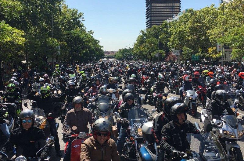 Manifestación en Madrid por la defensa de la moto (image)