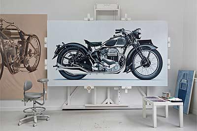 William Fisk: lienzos sobre dos ruedas (image)