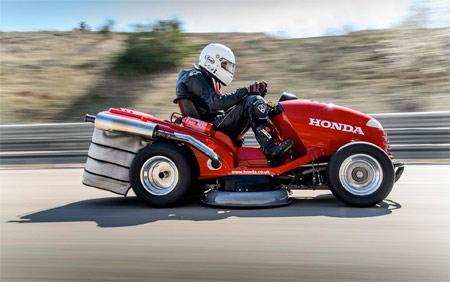Cortacésped Honda batiendo récord del mundo de velocidad (Vídeo) (image)