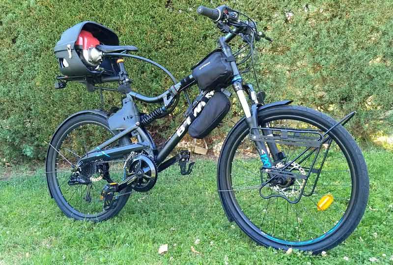 T-bike Proto, la bici con motor de gasolina (image)