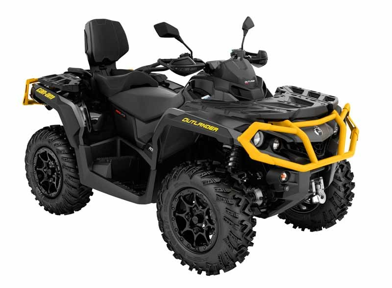 can am outlander max xtp 1000 2022 iron gray neo yellow