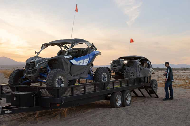 can am side by side 2022 desert double trailer