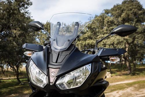 Yamaha Tracer 700, regulación pantalla