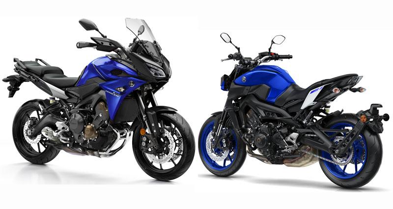 Yamaha Tracer 900 y Yamaha MT-09 2017
