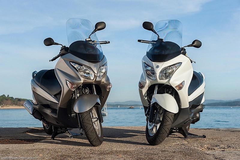 Suzuki Burgman 125 200 comparativa