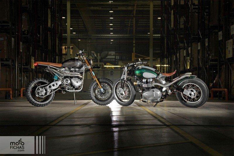 Triumph TFC Concept Bikes: scrambler & bobber (image)