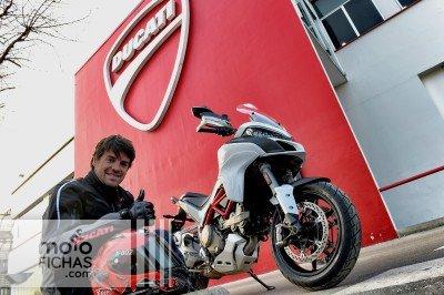 Carlos Checa estrena la primera Ducati Multistrada 2015 (image)