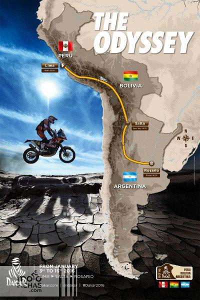 dakar-2016 nuevo recorrido