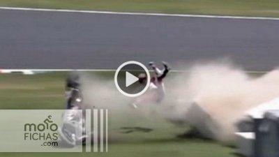 """Feo accidente de Casey Stoner en Suzuka: """"Vi muy de cerca las protecciones"""" (vídeo) (image)"""