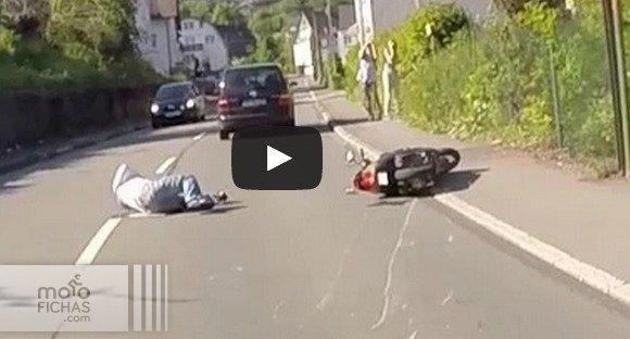 Atropella a un motorista y se da a la fuga (vídeo) (image)