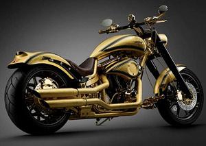 La moto de oro y diamantes: échale (image)