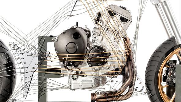 """Nuevo motor Yamaha de tres cilindros en línea """"cross plane"""" (image)"""